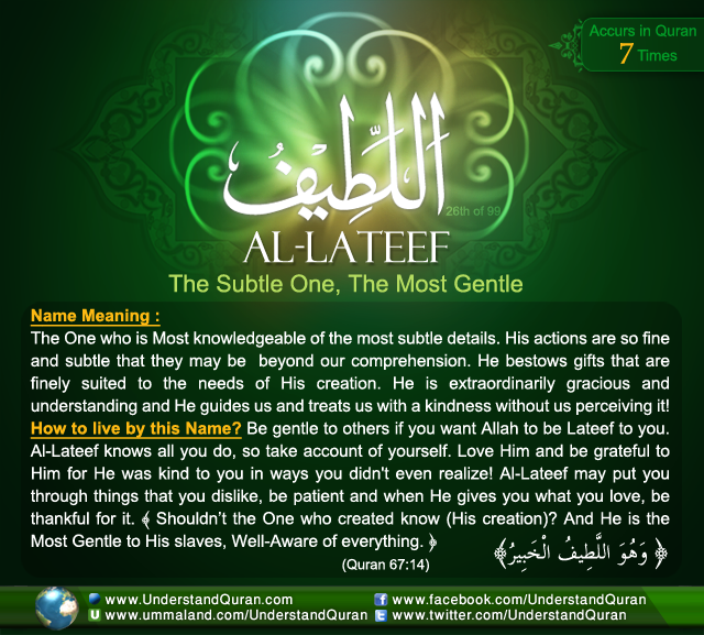 Name_26_Al-Lateef . Allah's name ...