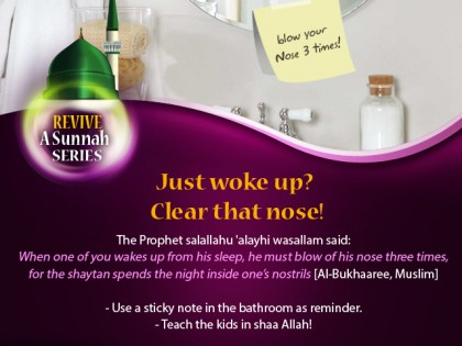 Revive a Sunnah: Clearing the Nose