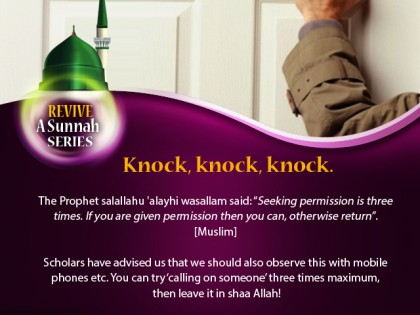 Revive a Sunnah: Knock, Knock, Knock