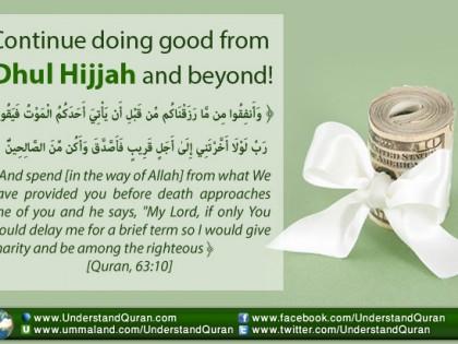 Doing Good From Dhul Hijjah and Beyond