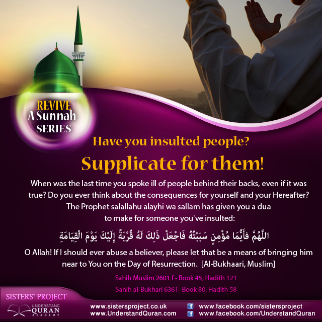 Supplicate for it