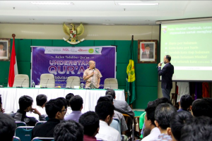 Brother Abdulazeez presenting the UQA program in Jakarta, Indonesia